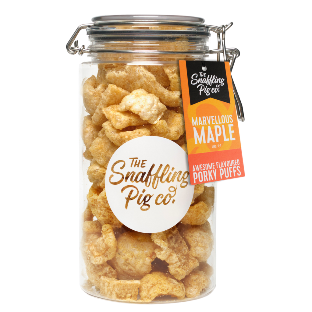 Marvellous Maple Porky Puffs Gifting Jar