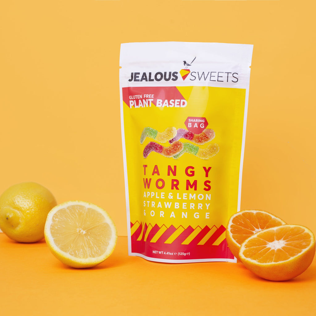Apple, Lemon, Strawberry, and Orange 'Tangy Worms' Sweets