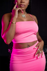 Aaliyah Jay: Exclusive It Girl Pretty in Pink Dress