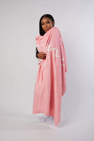 Aaliyah Jay: It Girl Script Pink Blanket