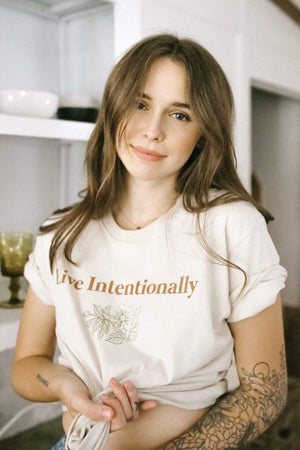 Acacia Kersey: Live Intentionally Flower Shirt