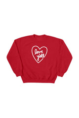 Addison Rae: Love Y'all Red Crewneck