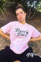 Addison Rae: Pouty Face Pink Shirt