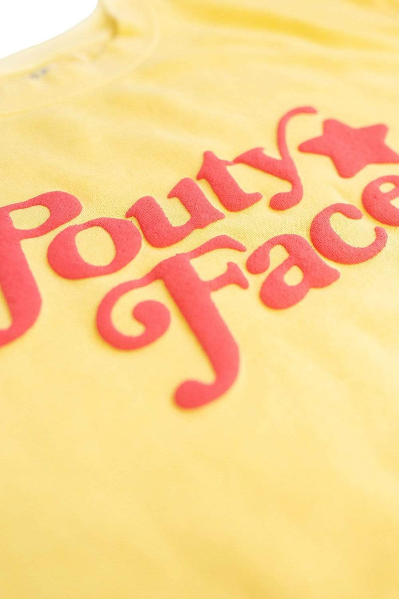 Addison Rae: Pouty Face Yellow Crewneck