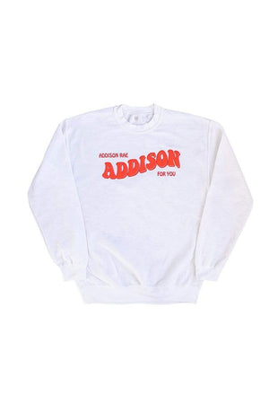 Addison Rae: Youth Addison For You White Crewneck