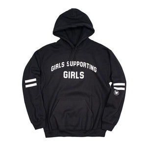 Adelaine Morin 'Girls Supporting Girls' Black Hoodie