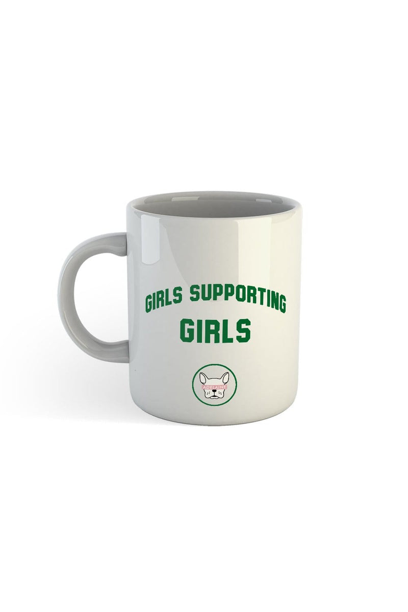 Adelaine Morin 'Girls Supporting Girls' Forest Green Mug