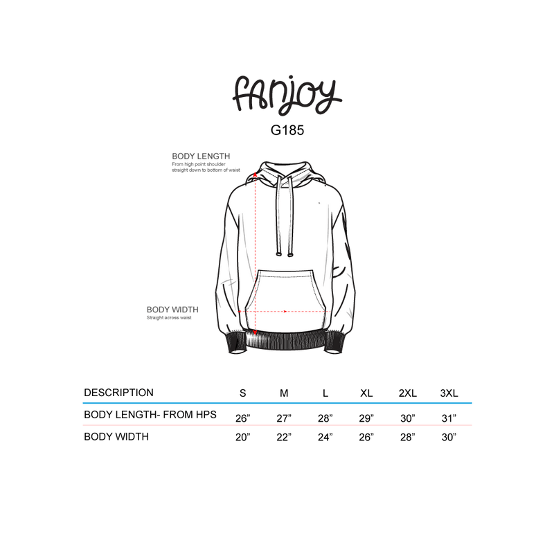 Audity Draws: Black Sketch Hoodie