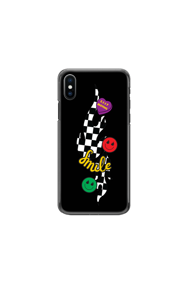 Avani Checkers and Smiles Black Phone Case