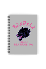 Bramty 'B2xPxL2' Grey Notebook