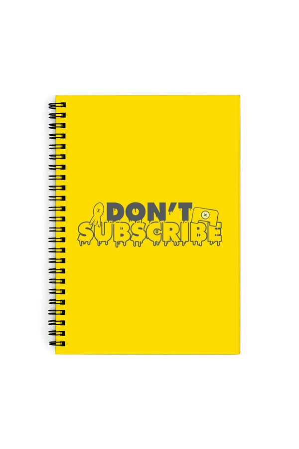 Calvin and Pat: Don't Subscribe Yellow Notebook