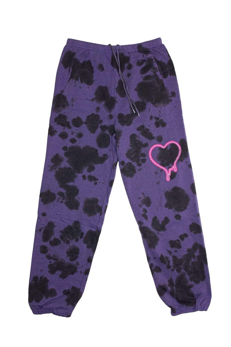 Chase Hudson 'HUDDY LOVE' Purple Tie Dye Sweatpants
