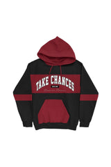 Colby Brock: 'Take Chances' Maroon Color Block Hoodie