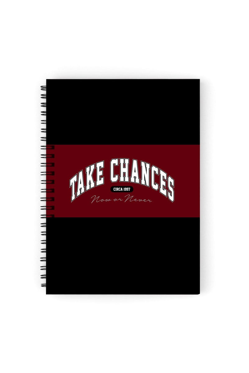 Colby Brock: Take Chances Maroon Notebook