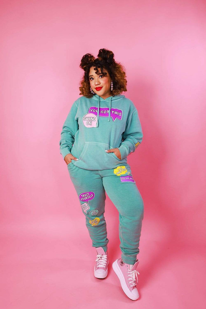 Color Me Courtney: Mint Positivity Hoodie