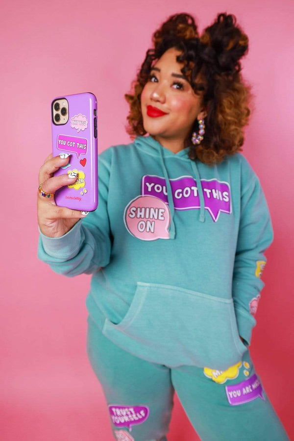 Color Me Courtney: Purple Positivity Phone Case