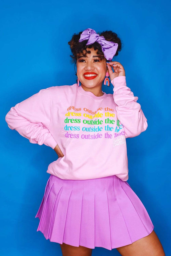 ColorMeCourtney: Pink Dress Outside The Lines Crewneck