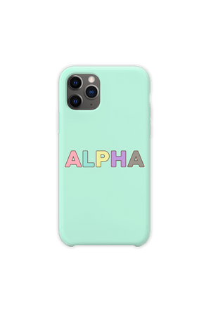 DanDan Signature 'ALPHA' Pastel Mint Phone Case