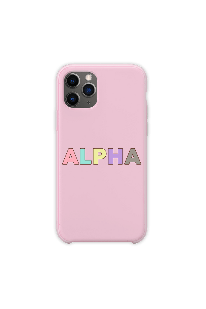 DanDan Signature 'ALPHA' Pastel Pink Phone Case