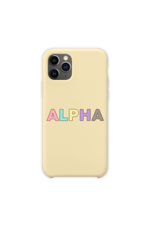 DanDan Signature 'ALPHA' Pastel Yellow Phone Case