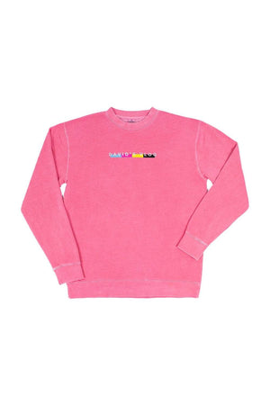 David Dobrik Beverly Pink Crewneck Sweater