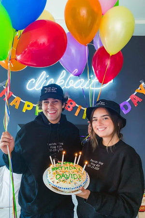 David Dobrik Birthday Title Card Crewneck