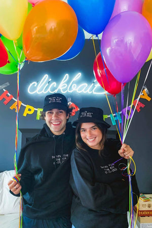 David Dobrik Birthday Title Card Hat