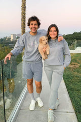 David Dobrik Stone Gray Iridescent Sweatpants
