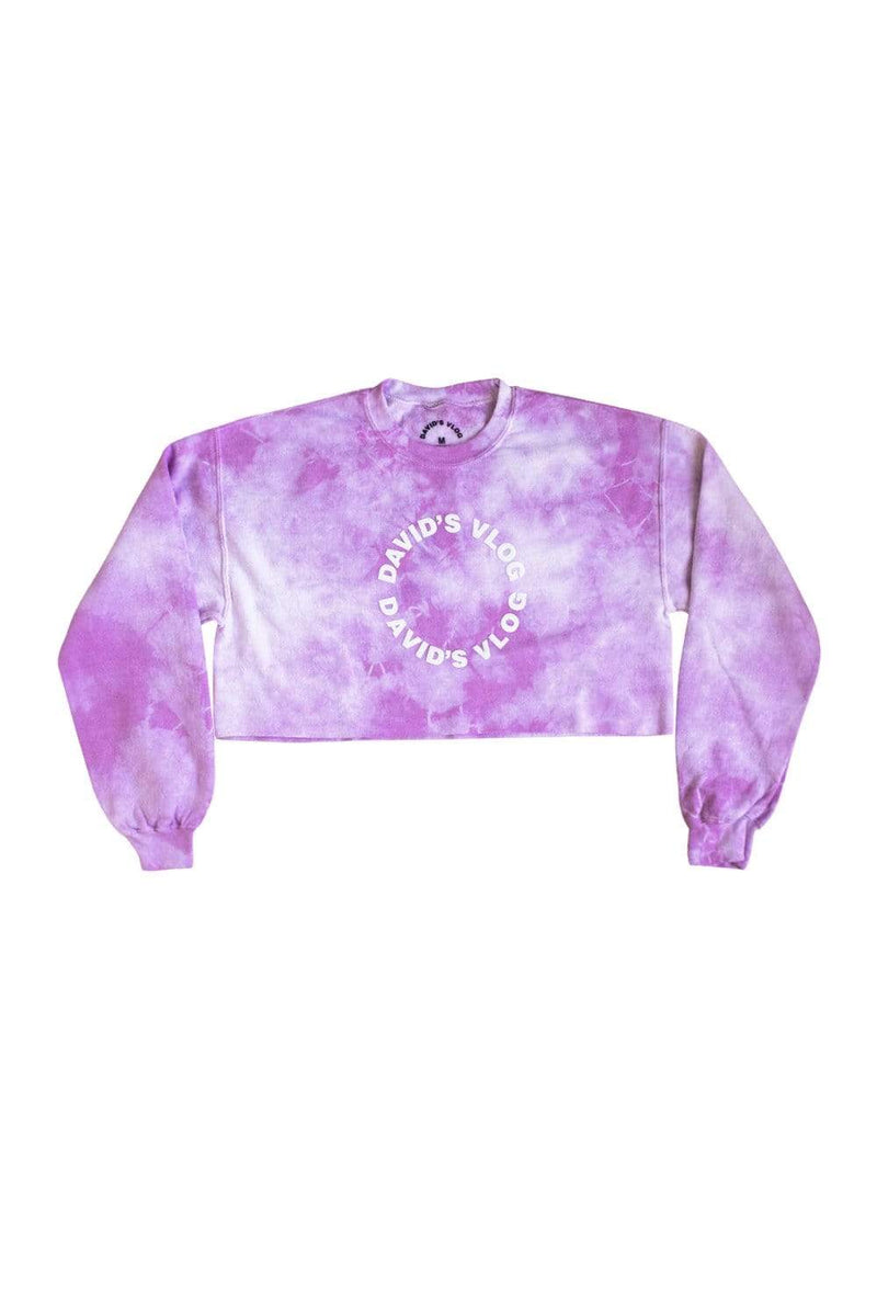 David Dobrik Purple Cloud Crop Crewneck