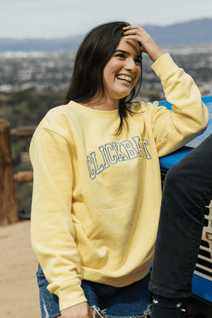 David Dobrik Yellow Sunrise Clickbait Sweater