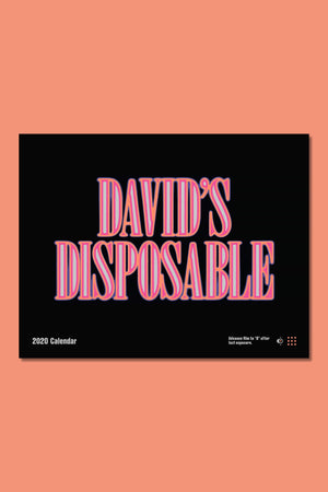 David's Disposable 2020 Calendar