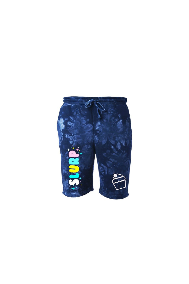 DerkSlurp: Navy Tie Dye Slurp Shorts