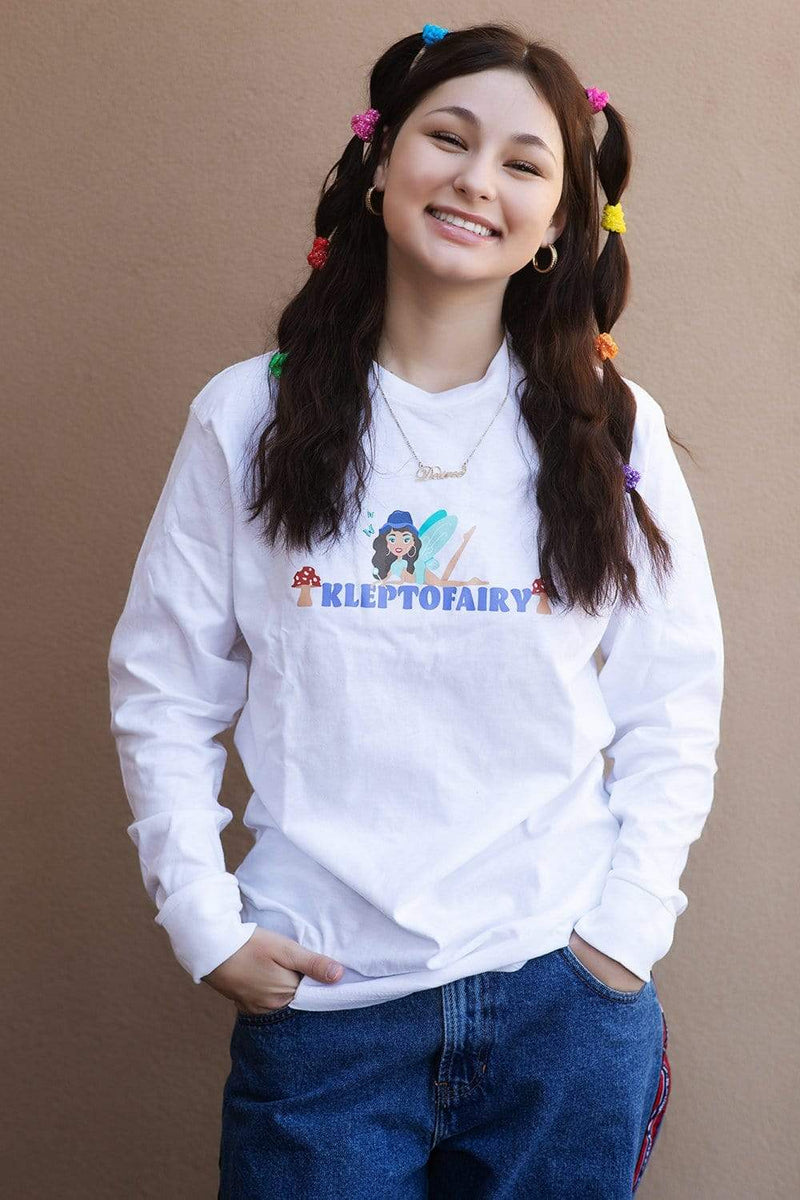 Dez Machado: Kleptofairy White Long Sleeve TShirt