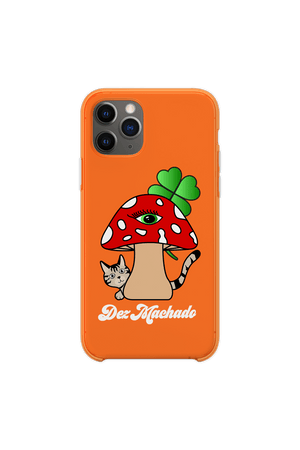 Dez Machado 'Mushroom' Orange Phone Case