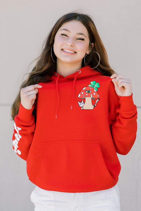 Dez Machado 'Small Mushroom' Red Hoodie