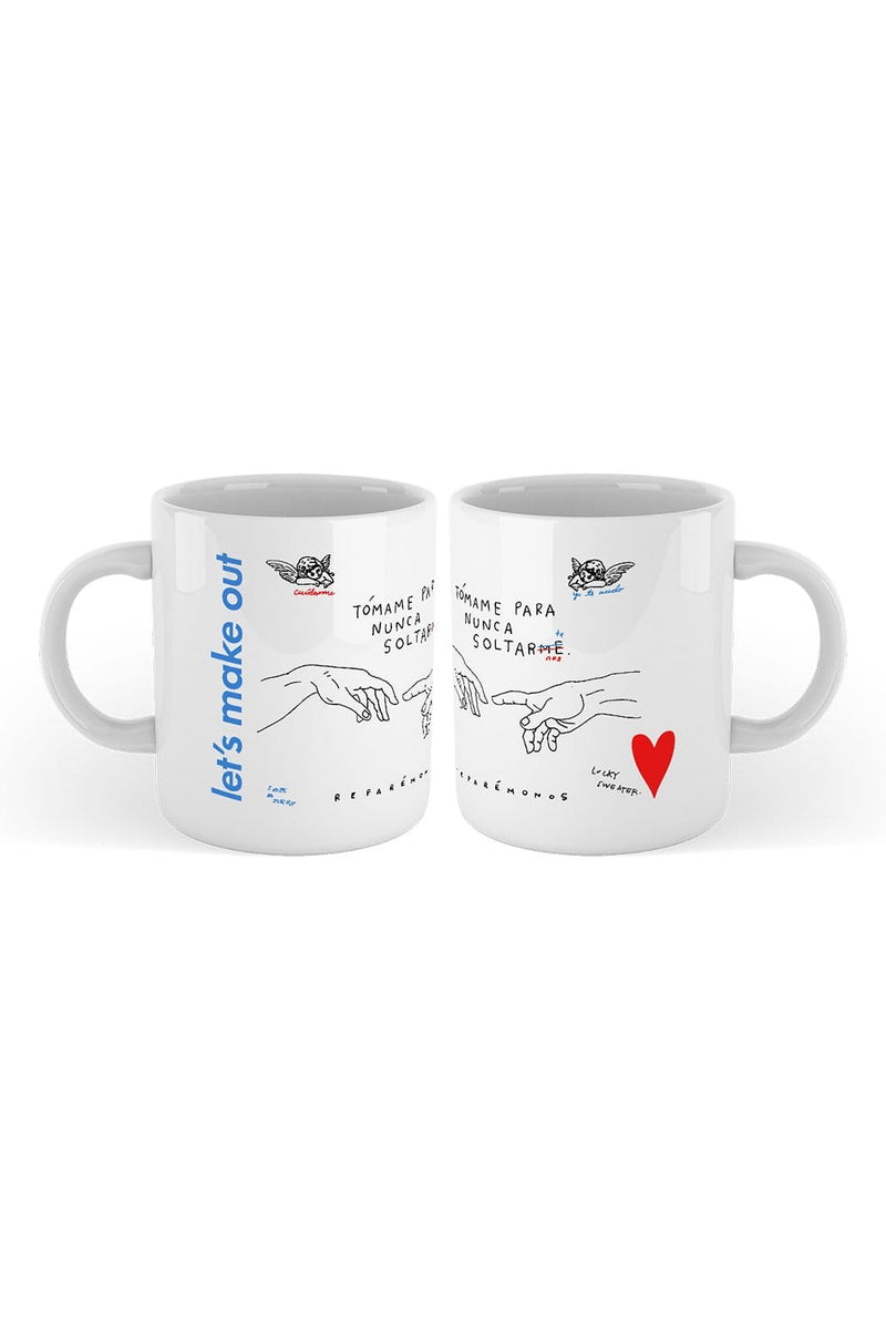 Calle y Poche: Let's Make Out White Mug