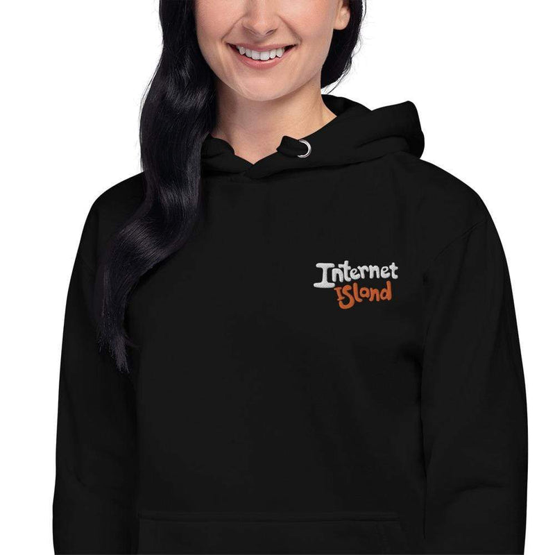 Internet Island Embroidered Hoodie