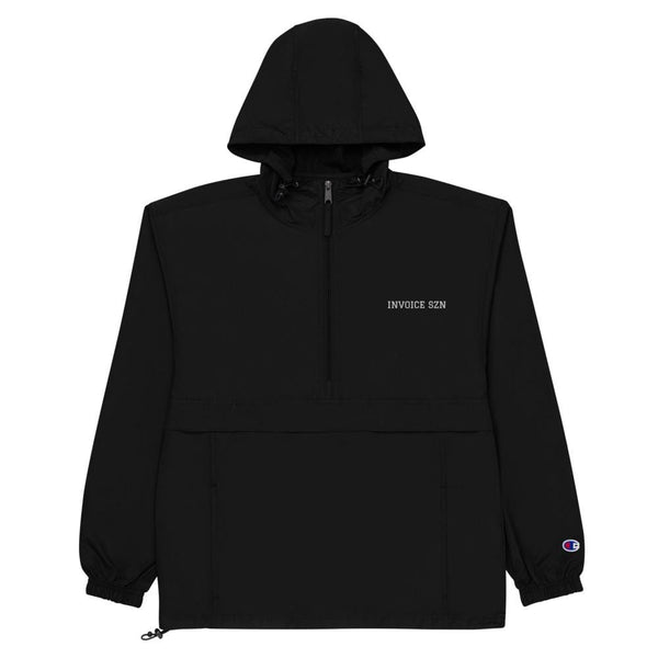 Invoice Szn Embroidered Champion Packable Jacket
