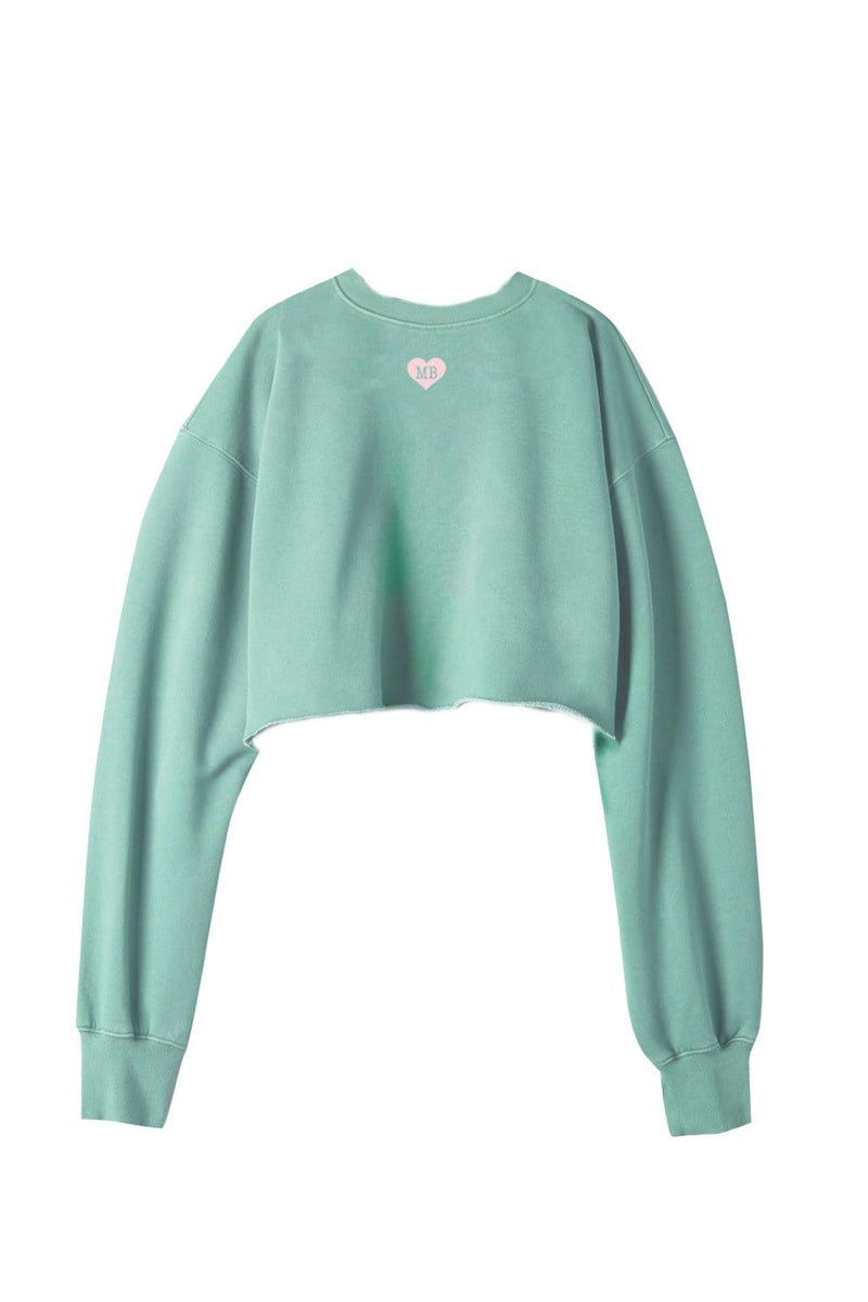 Molly Burke Birthday Collection: Have Empathy Green Cropped Crewneck