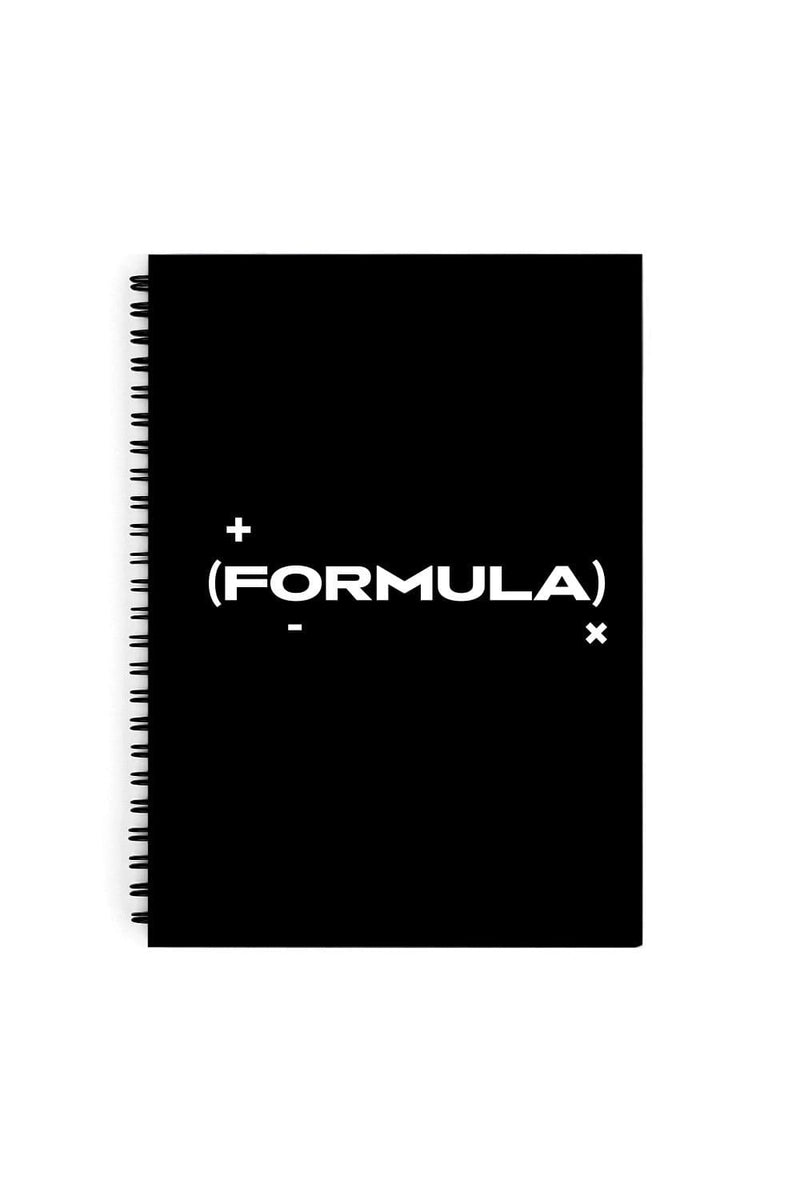 Formula Black Logo Notebook