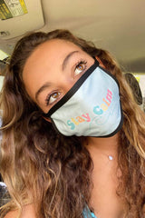 Gabbie Gonzalez: 'Stay Calm' Baby Blue Face Mask