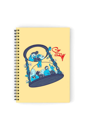 Gloom Hourglass Friends Notebook