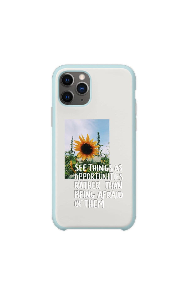 Hannah Elise: Sunflower Quote Clear Blue Phone Case