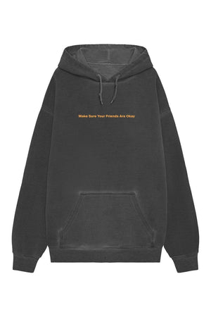 Make sure your friends are okay. Classic Neon Orange Hoodie