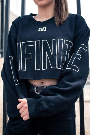 Infinite Lists: Colossal Cropped Crewneck