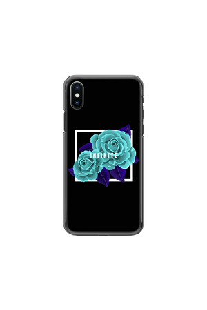 Infinite Lists: Infinity Blue Roses Phone Case