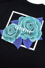 Infinite Lists: Infinity Blue Roses Youth Tee