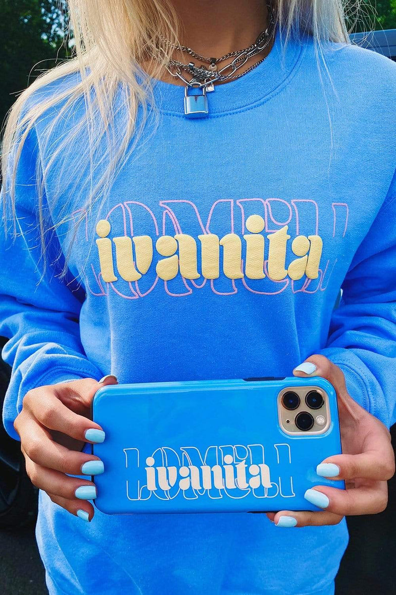 Ivanita Lomeli Light Blue Crewneck