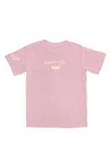 Jazlyn Jade 'Happy Vibes' Light Pink T-Shirt