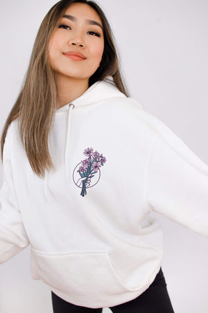 JenerationDIY: Exclusive Flower Bouquet White Hoodie